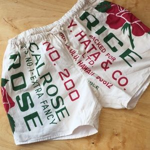 Pants - Hawaiian Rice Sac shorts! Like New!